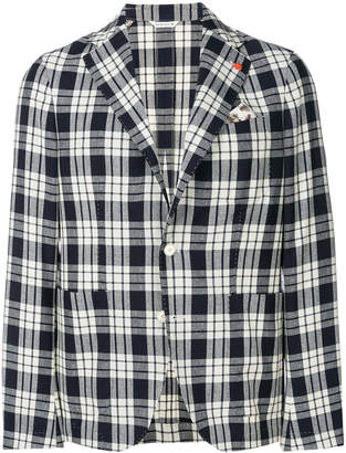Manuel Ritz checked casual blazer
