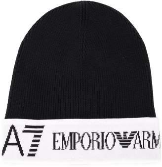 Emporio Armani (エンポリオ アルマーニ) - Ea7 Emporio Armani ロゴ ビーニー