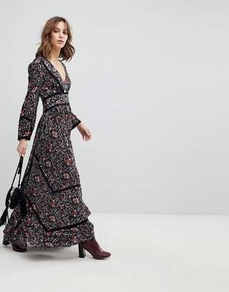 BA&SH Floral Bloom Smock Maxi Dress