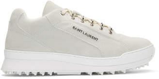 Saint Laurent White Suede Jump Sneakers