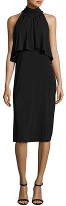 Ella Moss Aubriella Mock-Neck Popover Dress $198 thestylecure.com