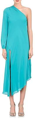 Mason by Michelle Mason WOMEN'S SILK GEORGETTE ONE-SHOULDER CAFTAN