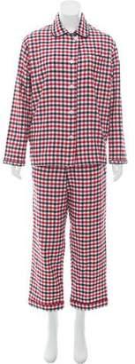 Sleepy Jones Bishop Gingham Flannel Pajama Set w/ Tags