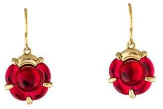 Baccarat Crystal B Flower Wire Earrings