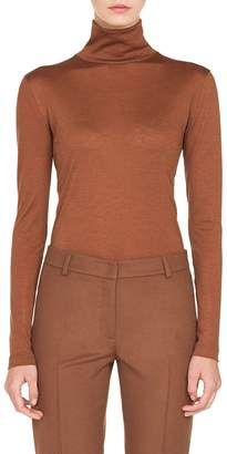 Akris Cashmere & Silk Mock Neck Sweater