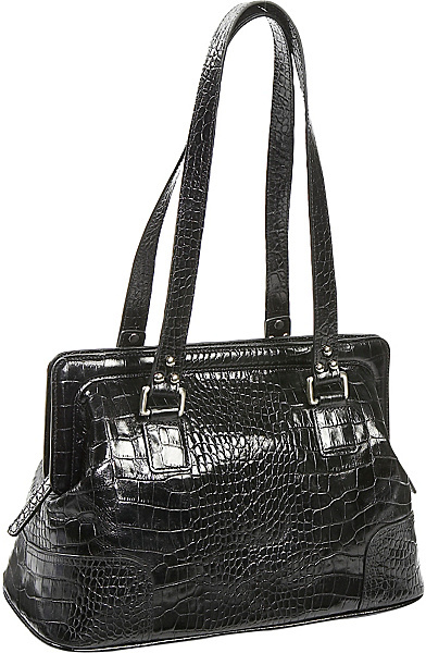 Jesselli Couture Croc Framed Satchel