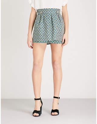Maje Iden floral-pattern jacquard shorts