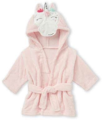 Hudson Baby Newborn Girls) Unicorn Plush Hooded Bathrobe