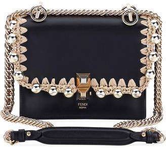 Fendi Kan I Pearly Edge Chain Shoulder Bag