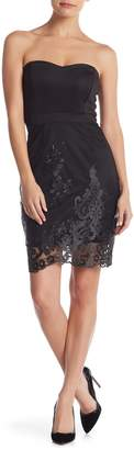 Tov Strapless Lace Sheath Dress