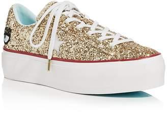 Converse One Star Platform x Chiara Ferragni Glitter Sneakers