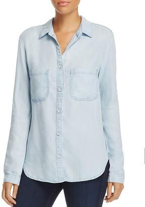 Side Stitch Chambray Button Back Shirt $132 thestylecure.com