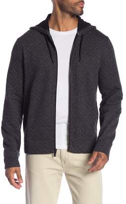 Original Penguin Quilted Long Sleeve Zip Up Hoodie