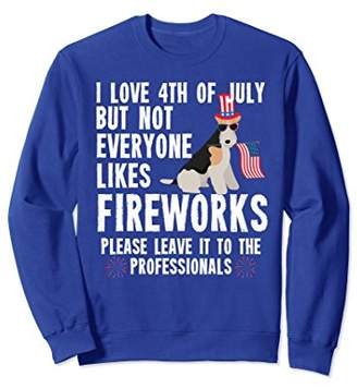 Wire Haired Fox Terrier Shirt 4th of July Sweatshirt