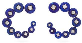 Fernando Jorge Surrounding Diamond & 18kt Rose Gold Earrings - Womens - Blue
