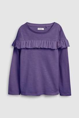 Next Girls Berry Ruffle Long Sleeve T-Shirt (3-16yrs)