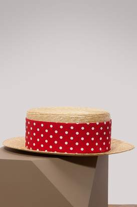 Miu Miu Dots straw hat