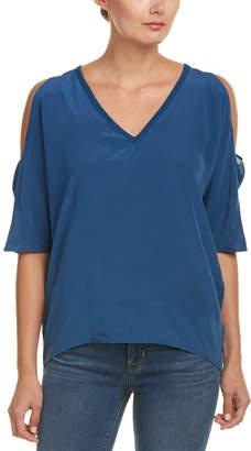 Chaser Cold-Shoulder Silk T-Shirt