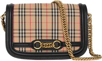 Burberry Vintage Check Link Flap Crossbody Bag