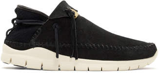 Visvim Black Folk Trainer Moccasins