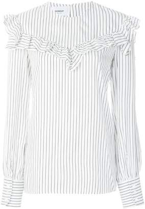 Dondup frill-trim striped shirt