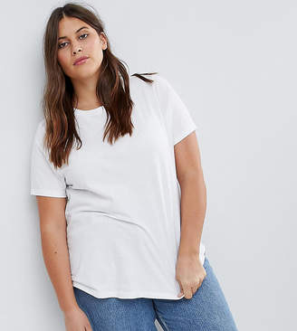 Asos DESIGN Curve ultimate crew neck t-shirt in white
