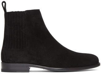 Saint Laurent Black Suede Dare Chelsea Boots