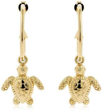 Schield Charms Turtle Earrings