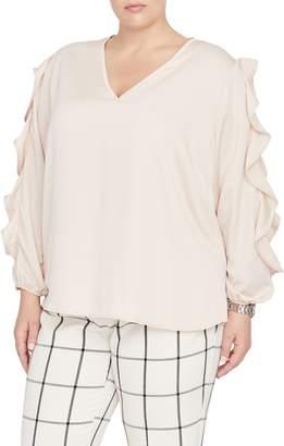 Rachel Roy Collection Bianca Ruffle Sleeve Blouse