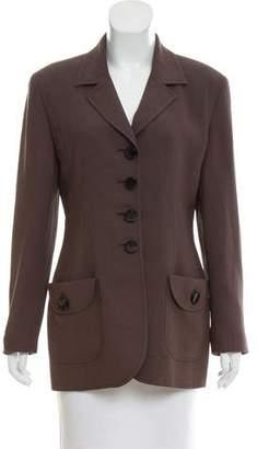 Christian Dior Long Sleeve Notch-Lapel Blazer
