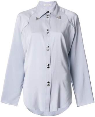 Nina Ricci metal-tipped collar shirt