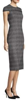 Agnona Alpaca and Wool-Blend Fitted Sheath Dress