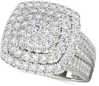 Macy's Diamond Square Cluster Ring (2 ct. t.w.) in 14k White Gold
