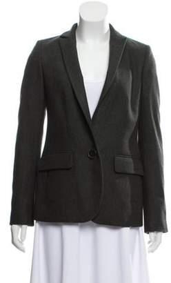 Stella McCartney Stand Collar Structured Blazer Olive Stand Collar Structured Blazer