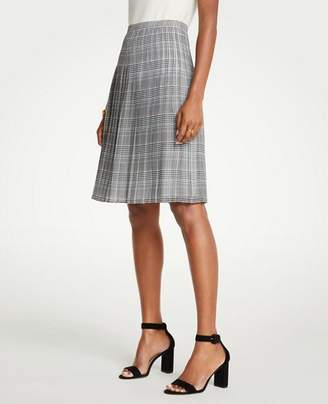 Ann Taylor Plaid Pleated Skirt