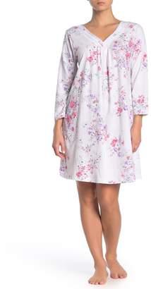 Carole Hochman Satin Trim V-Neck Nightgown