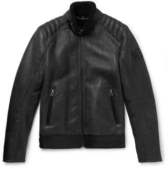 Belstaff Westlake Leather-Trimmed Shearling Jacket