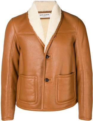 Saint Laurent sheepskin lining jacket