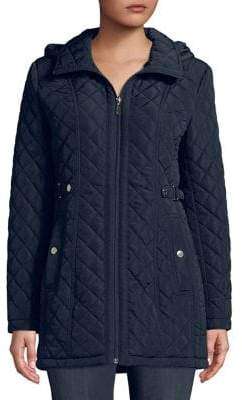 Gallery Plus Quilted Hooded Jacket