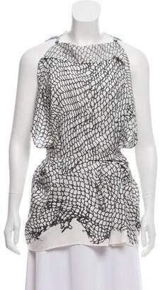 Ann Demeulemeester Pattern Print Silk Top