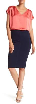 Catherine Malandrino Paneled Ponte Pencil Skirt