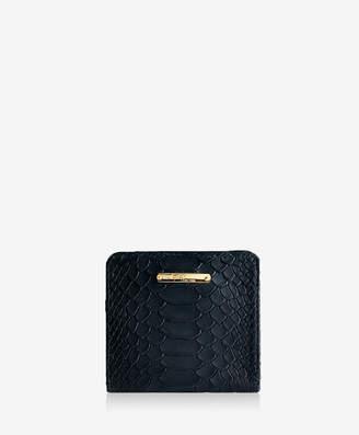 GiGi New York Mini Foldover Wallet Embossed Python