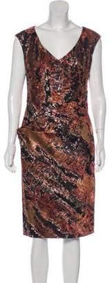 Lela Rose Matelassé Midi Dress w/ Tags