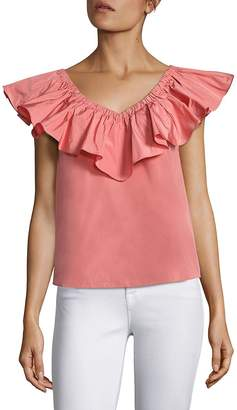 Rebecca Taylor Women's Solid Off-The-Shoulder Top