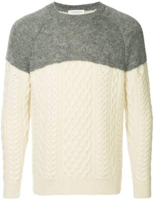 TOMORROWLAND contrast fitted sweater