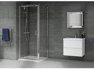 Aqualux 900mmx900mm Pivot Shower Enclosure & Tray