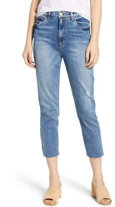 STS Blue Alicia High Rise Crop Raw Edge Jeans