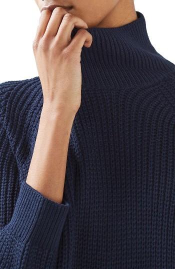Women's Topshop Grunge Funnel Neck Sweater Dress 4