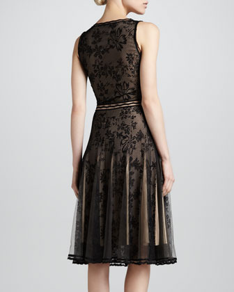 Zac Posen Scoop-Neck Lace Cocktail Dress, Black