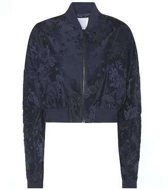 Rosie Assoulin Cropped jacquard bomber jacket